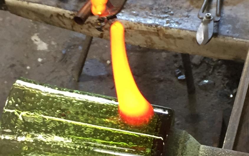 Stage d'initiation au verre soufflé - verrerie de Biot