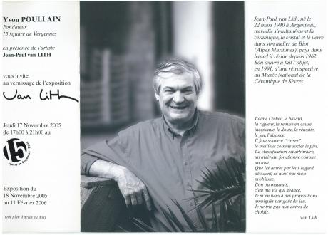 Van Lith Jean Paul - Céramiste