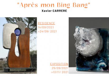 MOSTRA« Après mon Bing Bang » de Xavier Carrère – Galerie du Verre Pierini
