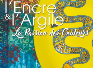 Exposition d'œuvres en céramique et de tissus peints en sérigraphie
