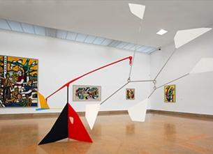 Vue de l'exposition Vis-à-Vis, 1er volet, 2017, musée national Fernand Léger
